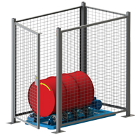 Stationary Drum Roller - Guard Enclosure DC583 | Ontario Safety Product