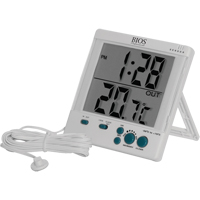 Indoor/Outdoor Thermometers w/Clock HA285 | Ontario Safety Product