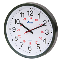 12/24 H Battery Operated Wall Clock HT072 | Ontario Safety Product