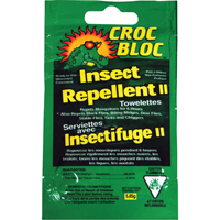 Croc Bloc™ 6-hr Insect Repellent Towelettes JA178 | Ontario Safety Product