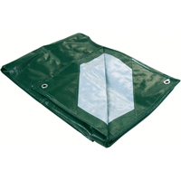 Polyethylene Tarpaulins - Industrial Green/Silver JB567 | Ontario Safety Product