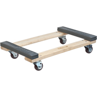 Rubber Ends Hardwood Dolly MN191 | Ontario Safety Product