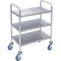 Stainless Steel Shelf Cart MN550 | Ontario Safety Product