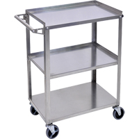 Stainless Steel Shelf Cart MN551 | Ontario Safety Product