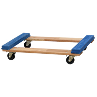 WOOD DOLLY - OPEN DECK RUBBER ENDS MO201 | Ontario Safety Product