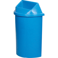 Recycling Containers Half Moon Bullseye™ NC442 | Ontario Safety Product