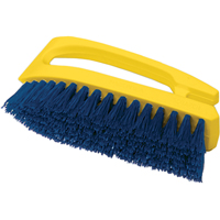 "SCRUB BRUSH""IRON""TYPE HANDLE POLY COLOUR COBALT NE406 