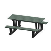 Recycled Plastic Outdoor Picnic Tables NJ034 | Ontario Safety Product