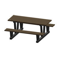 Recycled Plastic Outdoor Picnic Tables NJ035 | Ontario Safety Product