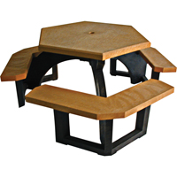 Recycled Plastic Hexagon Picnic Tables NJ130 | Ontario Safety Product
