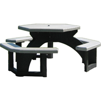 Recycled Plastic Hexagon Picnic Tables NJ131 | Ontario Safety Product