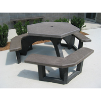 Recycled Plastic Hexagon Picnic Tables NJ132 | Ontario Safety Product