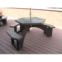 Recycled Plastic Hexagon Picnic Tables NJ135 | Ontario Safety Product