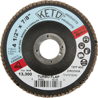 4-1/2 X 7/8 TURBO FLAP DISC 40GRIT NU176 | Ontario Safety Product