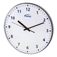 12 H Battery Operated Wall Clock OP237 | Ontario Safety Product