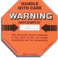 Shockwatch® Impact Detection Devices PC439 | Ontario Safety Product