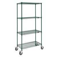Green Epoxy Finish Wire Shelf Carts RL803 | Ontario Safety Product