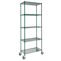 Green Epoxy Finish Wire Shelf Carts RL809 | Ontario Safety Product
