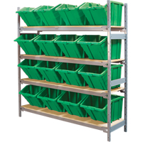Wide Span Shelving with Jumbo Plastic Bins RL982 | Ontario Safety Product