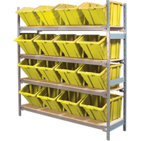 Wide Span Shelving with Jumbo Plastic Bins RL983 | Ontario Safety Product