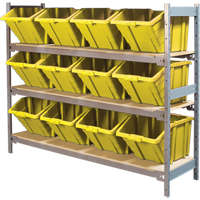 Wide Span Shelving with Jumbo Plastic Bins RL987 | Ontario Safety Product