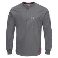 Excel FR® Long Sleeve Henley Shirts SGC027 | Ontario Safety Product