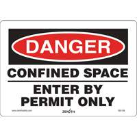 Danger Confined Space Safety Sign SGI136 | Ontario Safety Product
