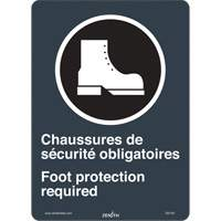 CSA Bilingual Foot Protection Required Safety Sign SGI140 | Ontario Safety Product