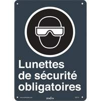 CSA French Safety Glasses Required Safety Sign SGI141 | Ontario Safety Product