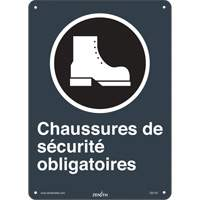 CSA French Safety Shoes Required Safety Sign SGI142 | Ontario Safety Product