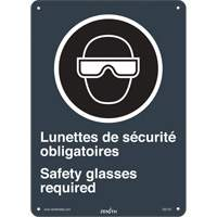 CSA Bilingual Safety Glasses Required Safety Sign SGI143 | Ontario Safety Product