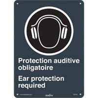 CSA Bilingual Ear Protection Required Safety Sign SGI144 | Ontario Safety Product