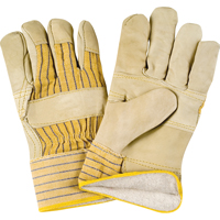 Grain Cowhide Fitters Cotton Fleece-Lined Patch Palm Gloves SDL881 | Ontario Safety Product