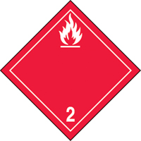 "Tdg Labels -flammable Gas -100 Mm X 100 Mm (4"" X 4"") -coated Paper Label-(ps) SAX129 