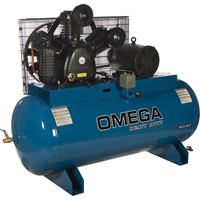 Industrial Series Air Compressors - 10 HP Horizontal Compressors - Two Stage TFA070 | Ontario Safety Product
