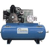 Industrial Series Air Compressors - 15 HP Horizontal Compressors - Two Stage TFA078 | Ontario Safety Product