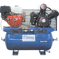 Industrial Series Air Compressors - 11 HP Gas Engine Compressors TFA106 | Ontario Safety Product