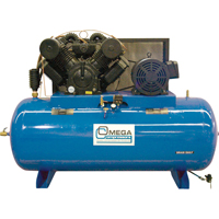 Industrial Series Air Compressors - 30 HP Horizontal Compressor - Two Stages TFA102 | Ontario Safety Product