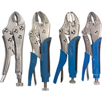 4-Piece Curved Jaw Locking Pliers w/Wire Cutter Set TLZ791 | Ontario Safety Product