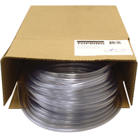 "CLEAR VINYL TUBINGS 3/8""OD X 1/4"" ID (100' PER TS608 