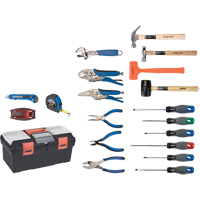 28-Piece Essential Tool Set with Plastic Tool Box TYP013 | Ontario Safety Product