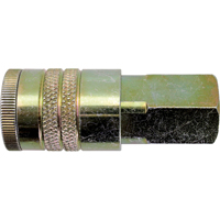 "Quick Couplers - 1/2"" Industrial, One Way Shut-Off - Manual Couplers TZ175 