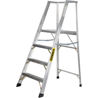 Extra Wide Heavy-Duty Industrial Aluminum Platform Stepladders (3500-XW Series) VC709 | Ontario Safety Product