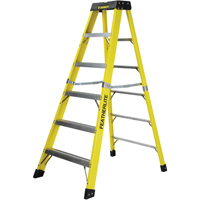 Extra Wide Heavy-Duty Industrial fibreglass Stepladders (6400-XW Series) VC713 | Ontario Safety Product