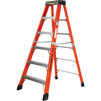 Extra Wide Extra Heavy-Duty Industrial fibreglass Stepladders (6800-XW Series) VC716 | Ontario Safety Product