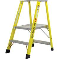 Extra Wide Heavy-Duty Industrial fibreglass Platform Stepladders (6500-XW Series) VC719 | Ontario Safety Product