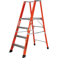 Extra Wide Extra Heavy-Duty Industrial Fibreglass Platform Stepladders (7500-XW Series) VC723 | Ontario Safety Product
