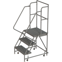Deep Top Step Rolling Ladder VC762 | Ontario Safety Product