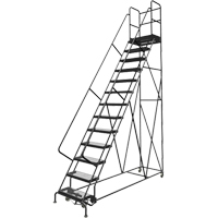 Deep Top Step Rolling Ladder VC777 | Ontario Safety Product