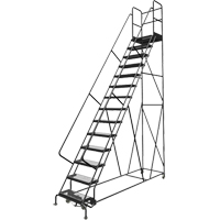 Deep Top Step Rolling Ladder VC778 | Ontario Safety Product